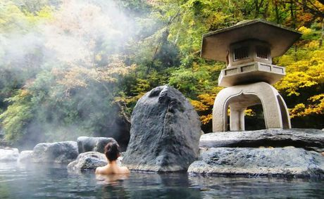 Ryokans or Japanese Inns all have an onsen in which guests can soak, often surrounded by landscaped gardens.