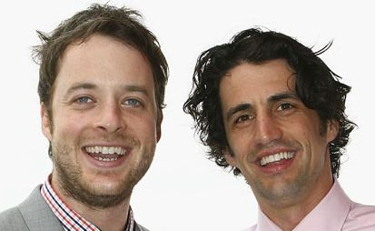 Hamish Blake, left, took home two Logies last night.