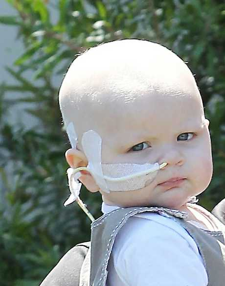 Baby Sativa, 20 months, has been fighting leukaemia.