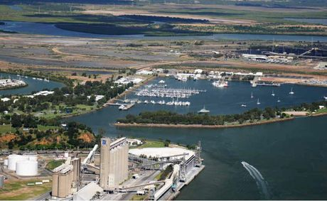 Aerial photograph of Gladstone region, including the marina, taken in February, 2011.