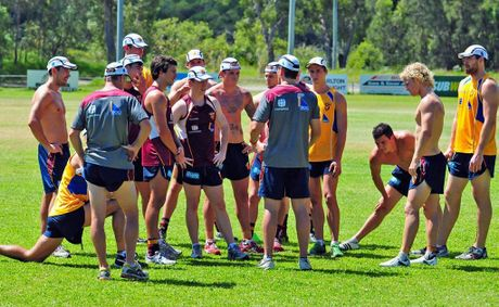 Brisbane Lions in training ahead of their Collingwood clash.