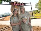 Terri, Bindi and Robert Irwin at the opening of Africa.
