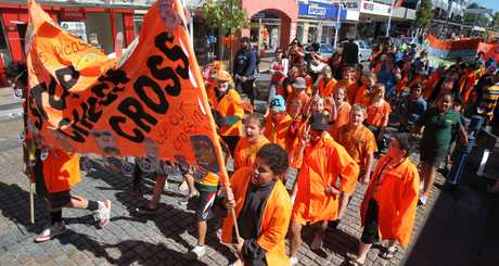 Kids dressed in orange will parade through the city to celebrate Orange Day tomorrow.