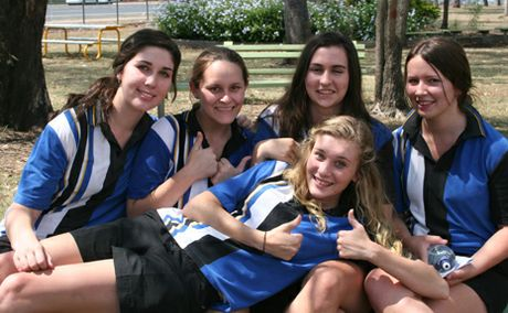 SAFE CELEBRATING: Bernie Elliott, Linelle Peake, Chennoa Wells, Megan Boal and Hayley Streeter are looking forward to their 'low key' schoolies.