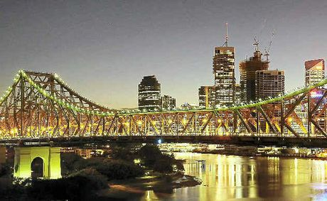 STUNNINGLY BEAUTIFUL: The Story Bridge and Brisbane city skyline take on a magical glow at night.
