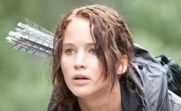 Jennifer Lawrence stars in The Hunger Games.