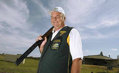 Toowoomba clay target shooter Len Edwards preparing to compete for Australia in New Zealand.