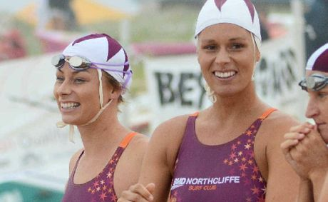 Courtney and Bonnie Hancock shared each side of the podium at the Coolangatta Gold finishing second and third