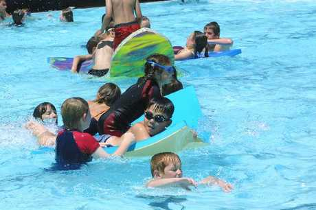 Swimmers enjoy Halswell Aquatic Centre in 2002.