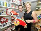 Owners of Toy Kingdom in Lismore, Carey and Carmel Horner, with some of the popular Christmas present choices for 2011.