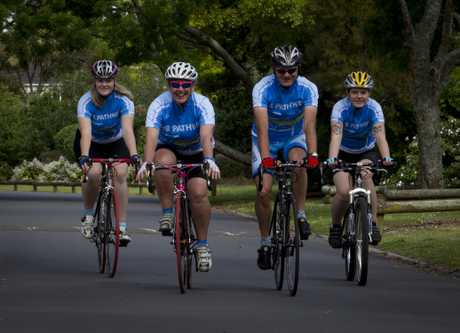 On Dec 11 cyclists will head across the Harbour Bridge in the TelstraClear Challenge. Family Electra Sinclair, Kirsten Shouler, Kim Sinclair and Chelsea Lind want this to be a permanent option and they support a cycleway clip-on.