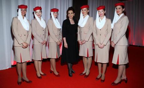 Cabin Crew Girls Emirates Cabin Crew With The