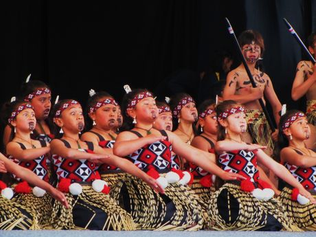 Te Kura Kaupapa Maori o Otepou students perform in the national primary schools kapa haka competition in Whangarei.