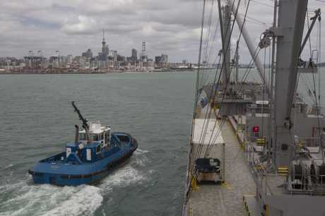 Police are appealing for information after the body of an unidentified man was found floating in the Auckland Harbour on Saturday.