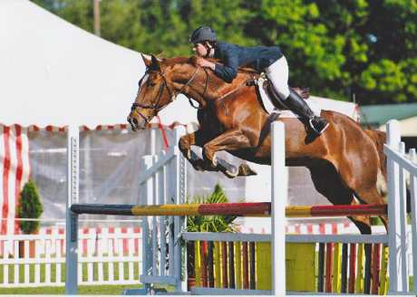 JUMPING: Olivia Gloyn on Midway Ace. PHOTO/SUPPLIED 