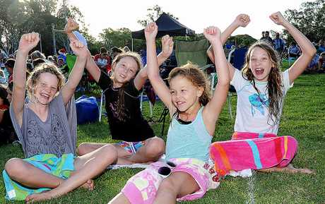 Samantha McIvor, Emiliy Peitt, Hayley Peitt, and Kimberley McIvor at Carols by Candlelight last year.