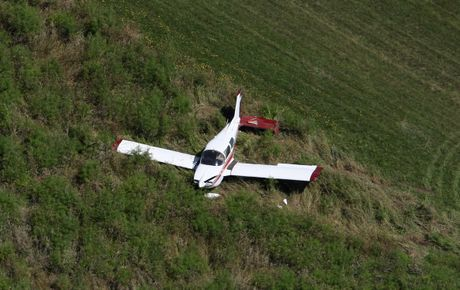 A plane crashed on the Motiti Island airstrip