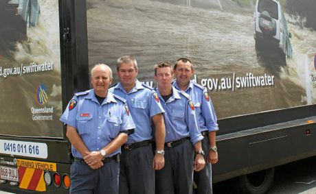 Warwick firefighters, Brett Bender, Ian Barnden, Michael Coombes and Greg Stewart.