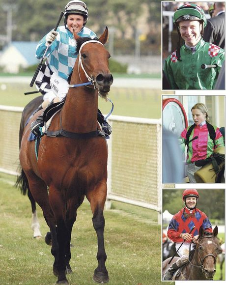 TOP JOCKEYS: Lisa Allpress is the doyen of Kiwi riders while other highfliers include (from top) Craig Grylls, Kelly Myers, and Jonathan Riddell.