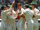 Australia celebrate another wicket.