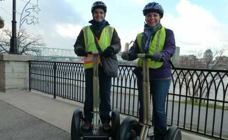 Karina and Steve on Segways.