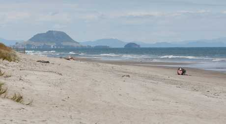 "A naked and ""aroused"" man confronted two women on Papamoa Beach, causing them to call police."