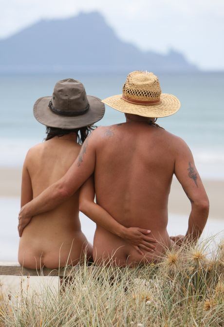 Naturists enjoy the view at Uretiti.