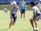 Gold Coast titans tain in the heat. Ashley Harrison and Jamal Idris.