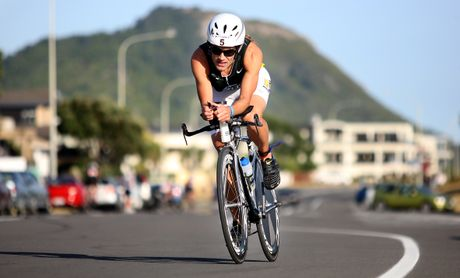 Top triathlete Kieran Doe was knocked down by a car.
