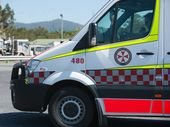 AN EXPECTANT mother is being assessed at the scene of an accident on the Pacific Hwy near Emerald Heights this morning.