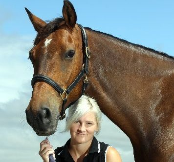 CRAZY AUSSIE: Zoe Towler with her Australian horse Wintersternon on which she won the North Island dressage championship Young Rider title. PHOTO/PAUL TAYLOR HBT120438-02