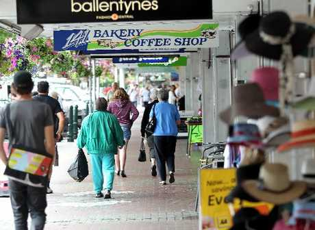 BUSTLING: Victoria Ave's shops appeared to be busy yesterday and retailers will be hoping for a solid start to the year based around significant events, such as the International VCC Rally, starting next week. PHOTO/STUART MUNRO