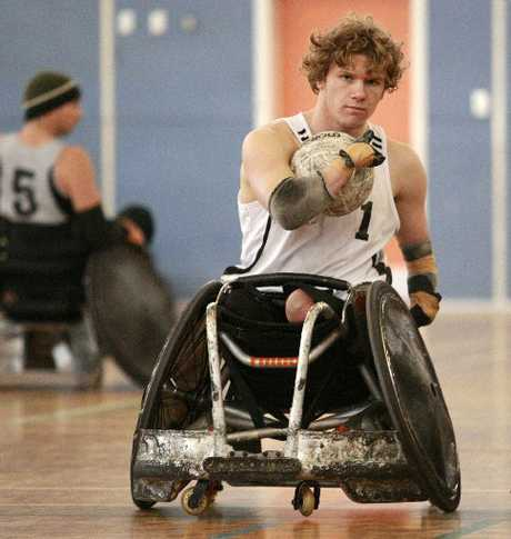 FINAL FLOURISH: Cameron Leslie, of Whangarei, wants to return to wheelchair rugby once the small matter of swimming at this year's London Paralympics is out of the way. PHOTO/APN