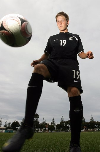 CAREER MOVE: Andy Bevin is following his Olympic dreams in Waitakere United's colours this summer.