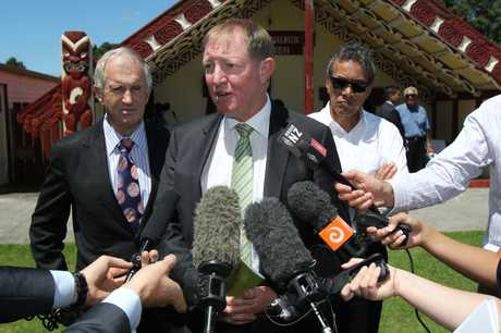 Environment Minister Nick Smith announced the Government's Environment Recovery Plan for Rena.