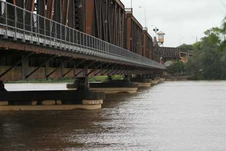 File photo: Flooding of the Clarence River - water under the Grafton Bendy Bridge. Photo: JoJo Newby/The Daily Examiner