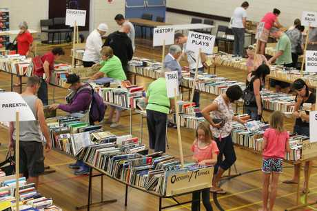 Booklovers rummage for a bargain at the annual Mount Maunganui Lioness Club Book Fair.