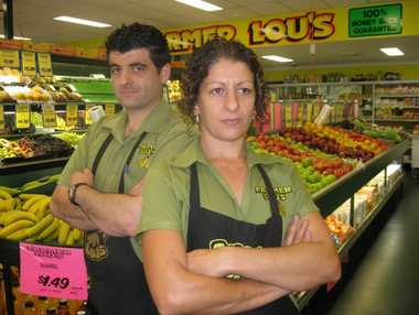 Paul Felice and Tina Felice, of Farmer Lou's in South Grafton.