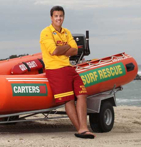While his mates are sunbathing, Jackson Edwards is working 8-hour days as a paid lifeguard.