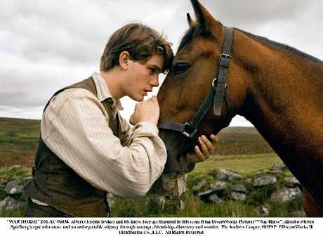 Albert (Jeremy Irvine) and his horse, Joey, in a scene from DreamWorks Pictures&#39; War Horse. Photo / Supplied