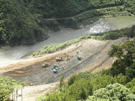 WAY THROUGH: The Manawatu Gorge is expected to have one lane open by the end of the week if the weather remains clear.