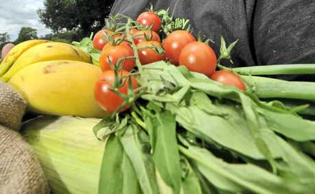 Paul Wilson of Nimbin is encouraging people to buy the abundance of fresh produce at local farmers' markets.