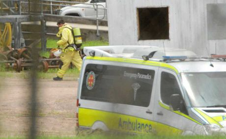 Firefighters and paramedics rushed to a chemical spill at a bioethanol plant at Sarina yesterday.