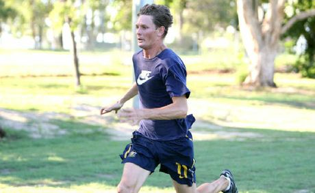 Beau Menzies in training at Cathy Freeman Oval has his eyes set on competing at the Paralympics in London.