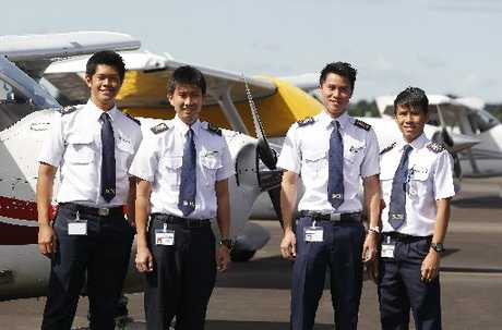 Danial Johari, Su Khe Tay, De Li Tan and Renhao Teo are Singaporean cadets in training at the centre.