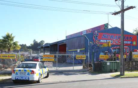 A man was taken to Tauranga Hospital after an explosion at a scrap metal company on Maleme St. 