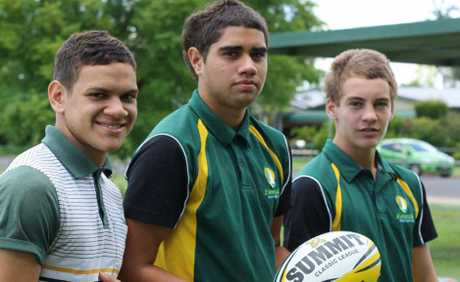 Emerald league representatives Sebastian Stiegler, Isaiah Huet and Connor Jones, are set for a busy few months playing in the Cyril Connell Cup under-16 competition.