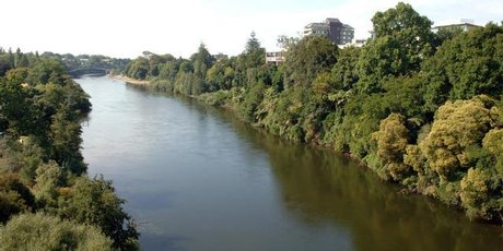A file shot of the Waikato River.
