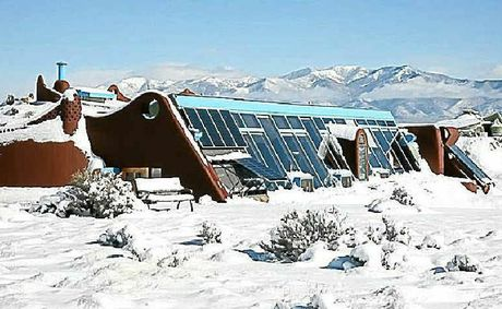 One of Michael Reynolds' Earthships.