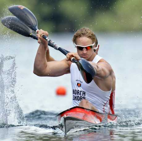 Steven Ferguson in action last year at the sprint national champs on Lake Tikitapu.